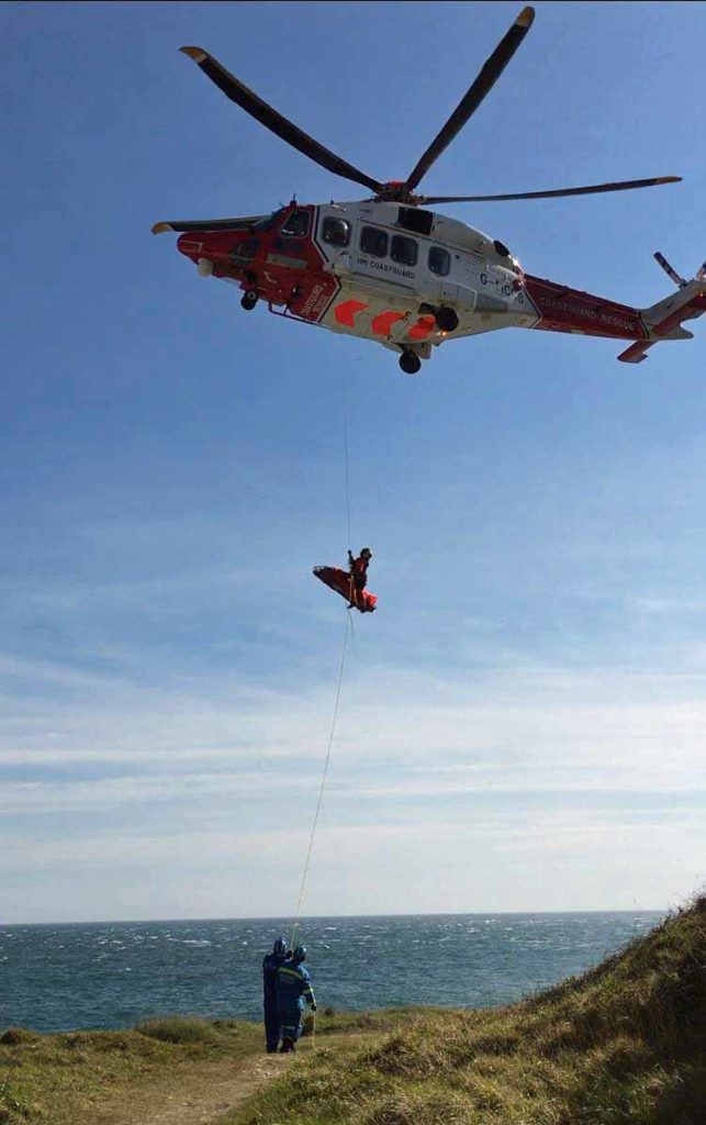 Rescue of climbers at Winspit
