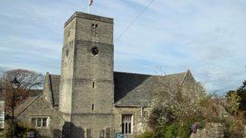 Flag flying at half mast at St Mary's Church
