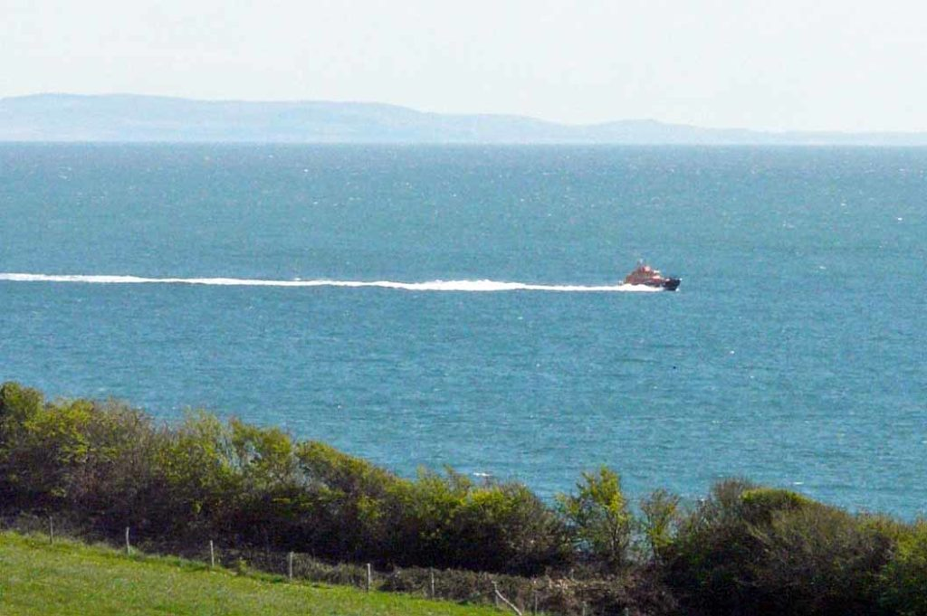 Swanage Lifeboat heading back from Poole Harbour