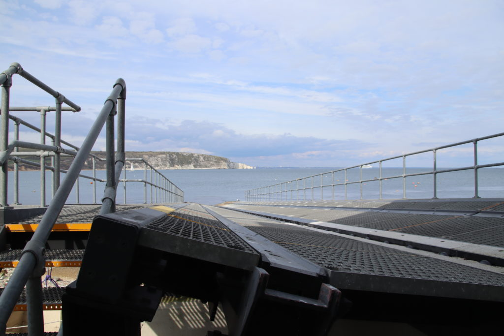 Launch ramp at Swanage Lifeboat Station