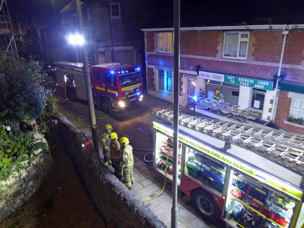 Swanage fire crews attend shed fire