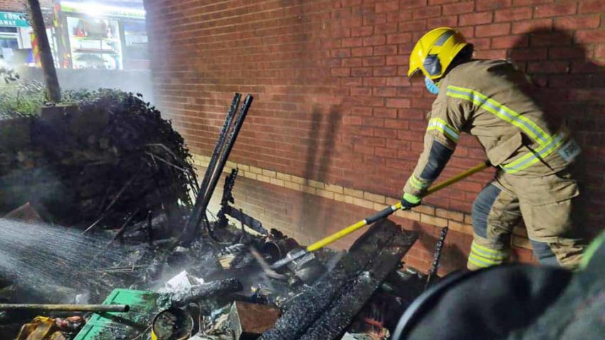 Swanage firefighters tackle garden shed blaze