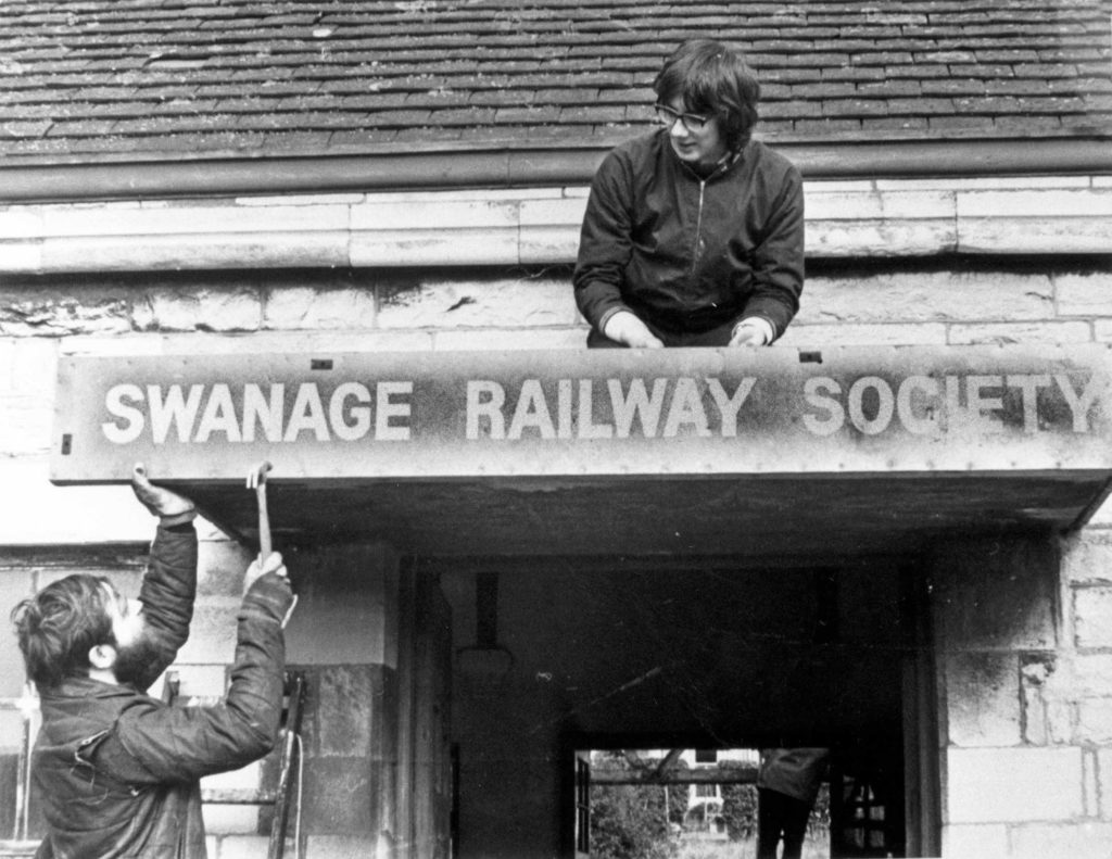 Swanage Station on 14 Feb 1976