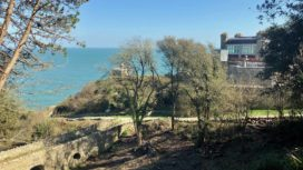 View towards Durlston Castle