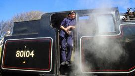 Fireman on 80104 locomotive