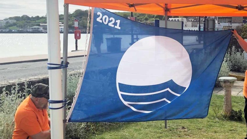 Blue Flag being raised for 2021