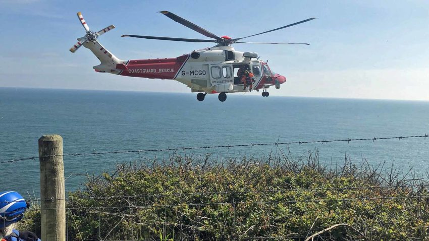 Climber airlifted to hospital