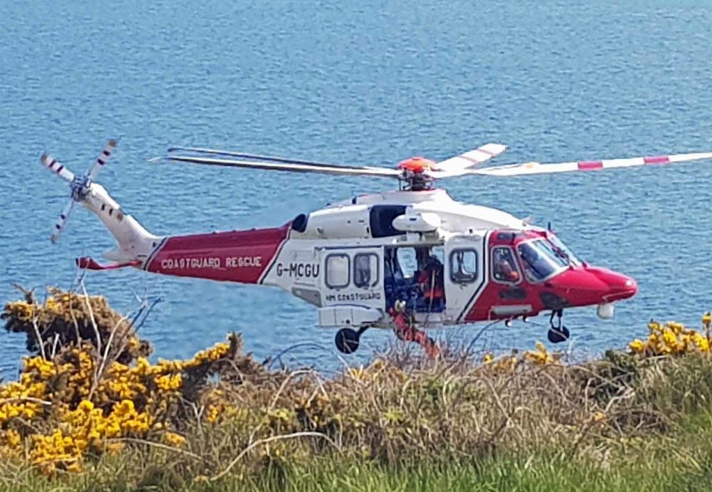 Coastguard Helicopter at Durlston
