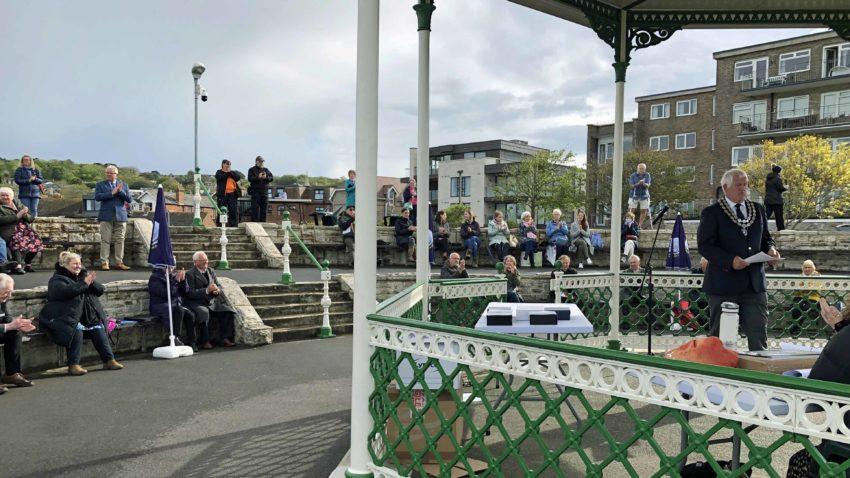 Community awards 2020 presentation at Swanage Bandstand