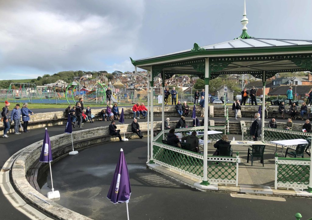 Awards ceremony at Swanage Bandstand