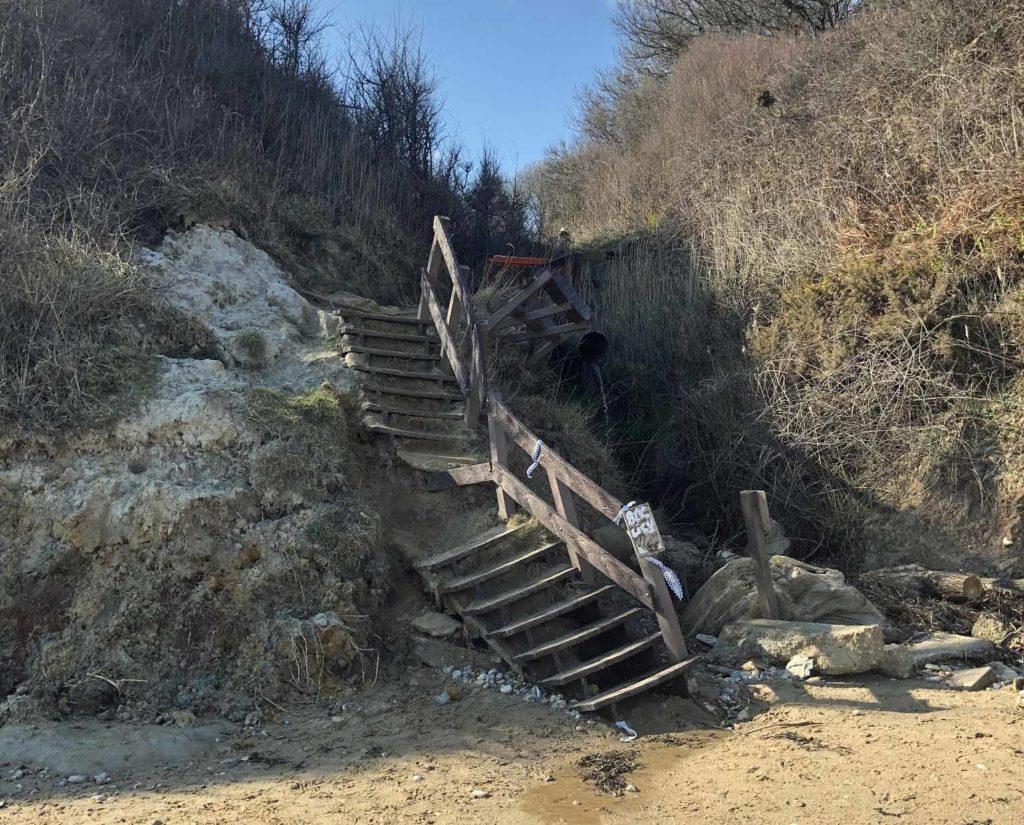 Damaged Sheps Hollow steps