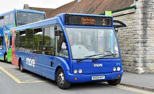 Durlston Explorer bus at Swanage Railway Station