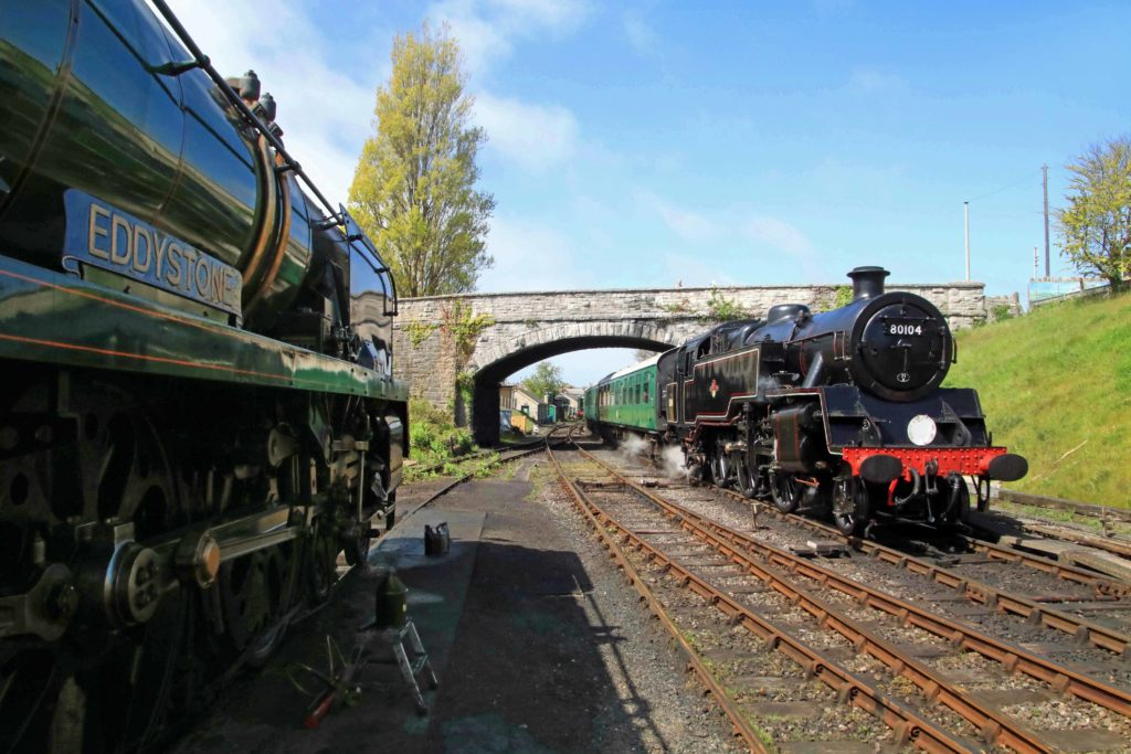 Locomotives Eddystone and 80104