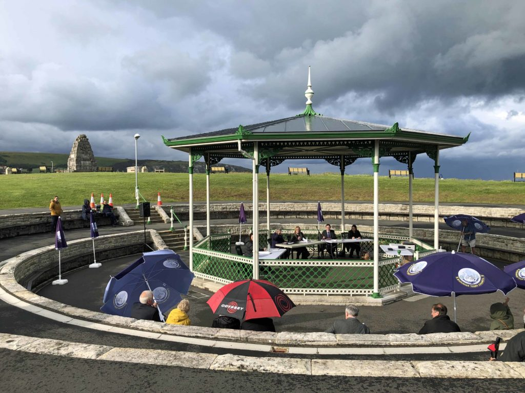 Election of new mayor Avril Harris at Swanage Bandstand