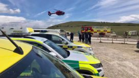 Emergency teams responding to incident in Lulworth