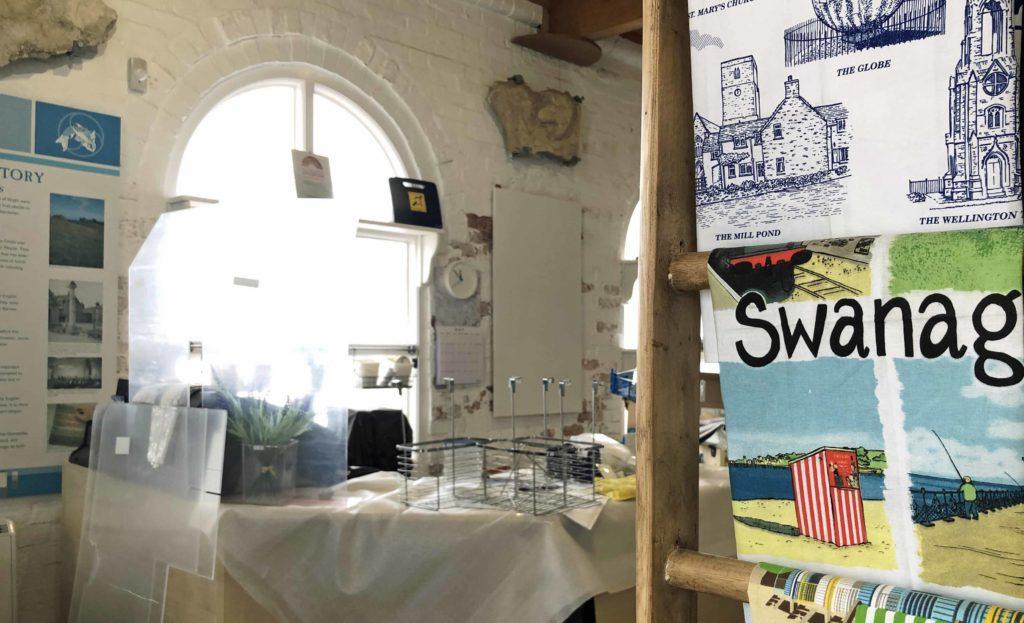 Inside Swanage museum during refurbishment