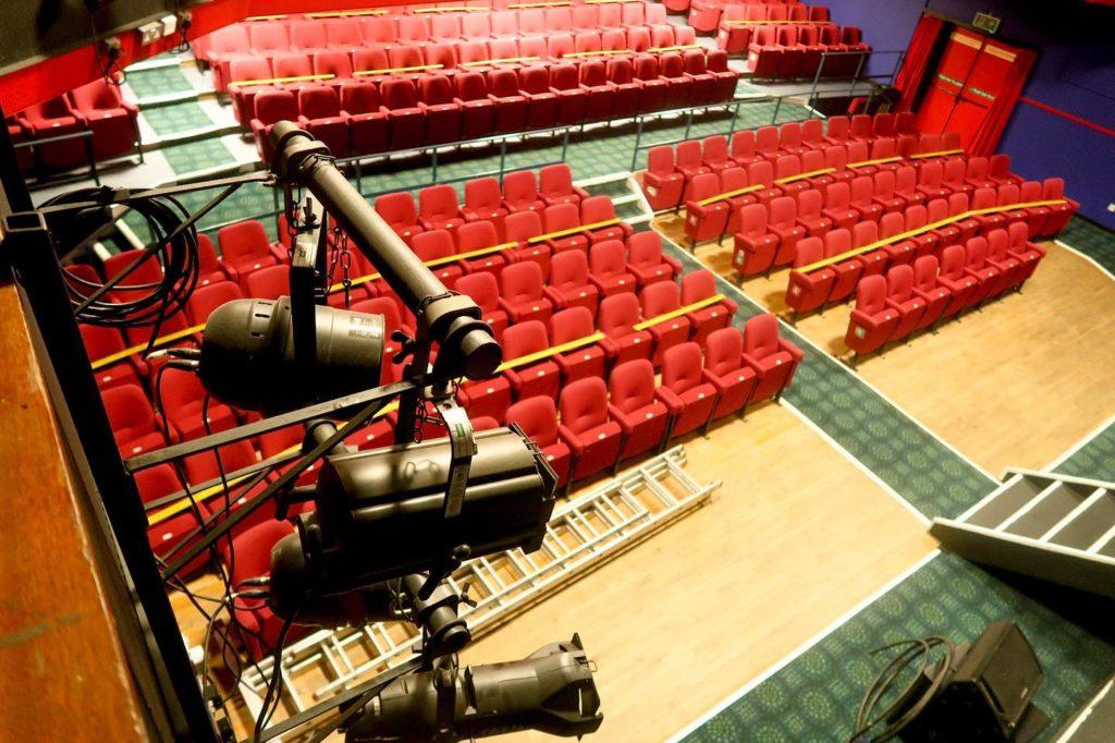 Inside the Mowlem auditorium