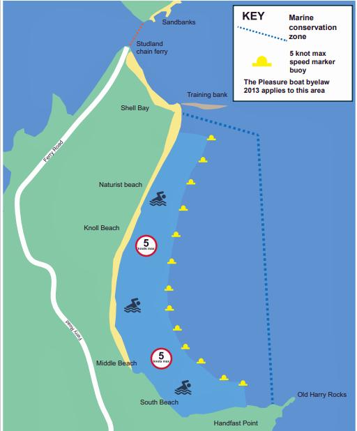 Studland Bay map