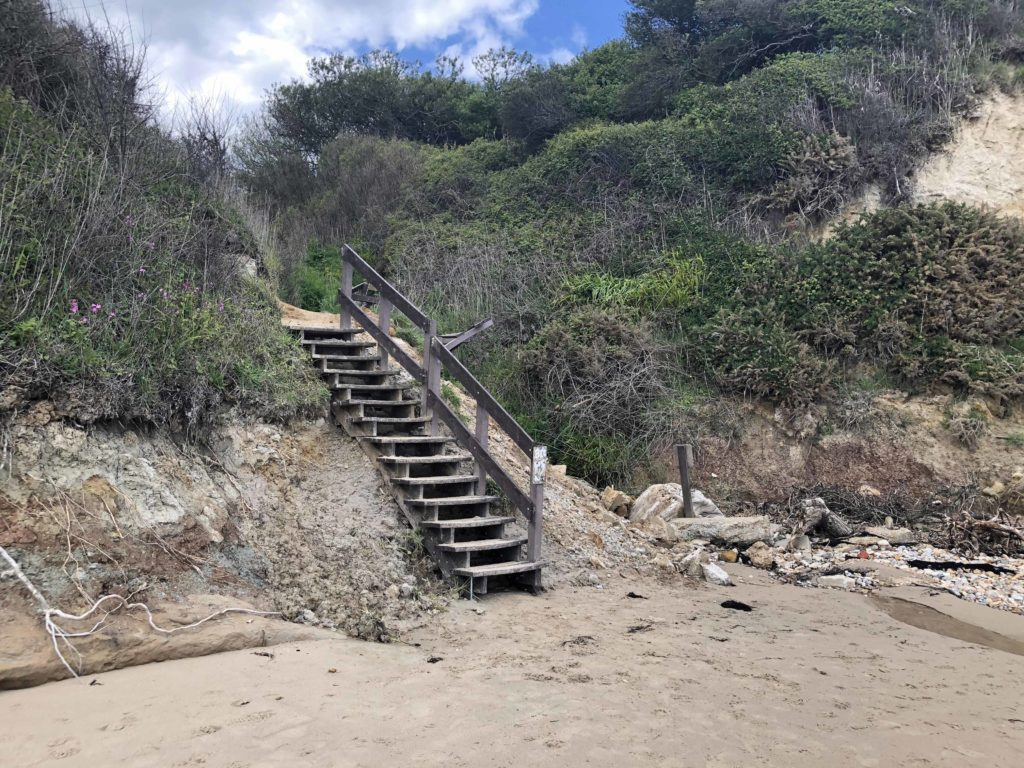 Sheps Hollow steps being repaired