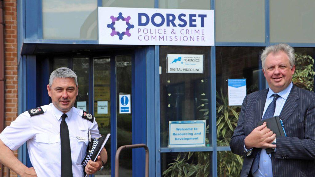 Dorset Police Constable James Vaughan and Dorset PCC David Sidwick