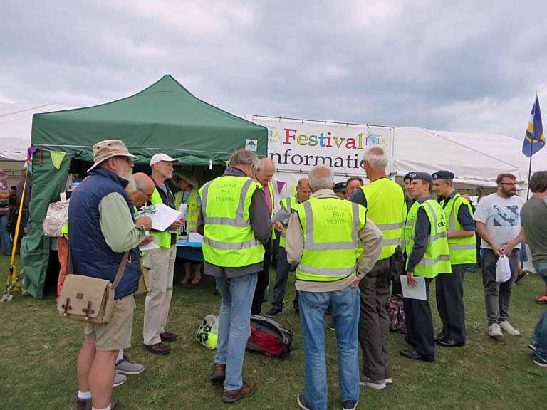 Stewards at Swanage Folk Festival