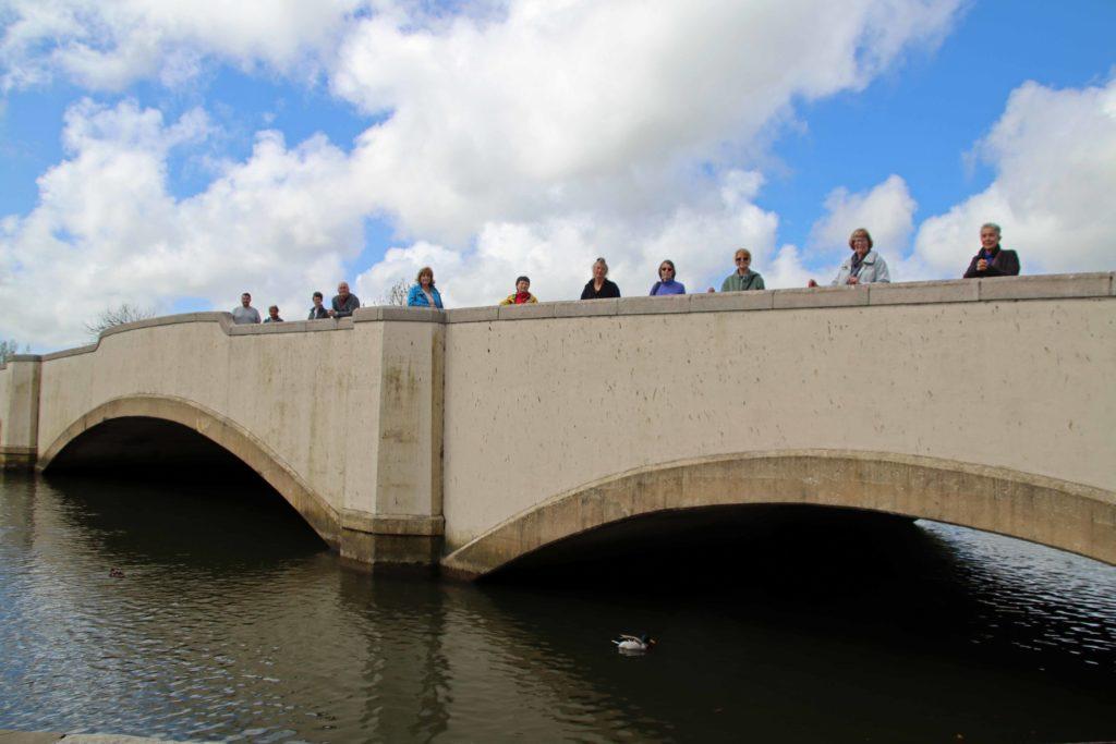 People on Wareham Bridge