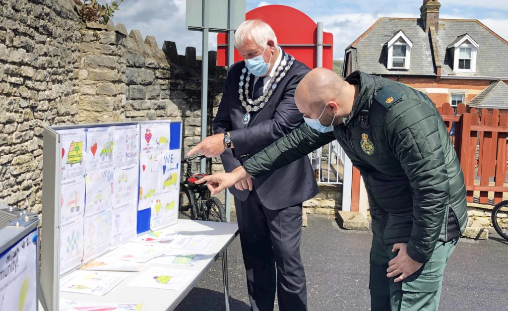Mayor and SWAST judge save the ambulance car competition