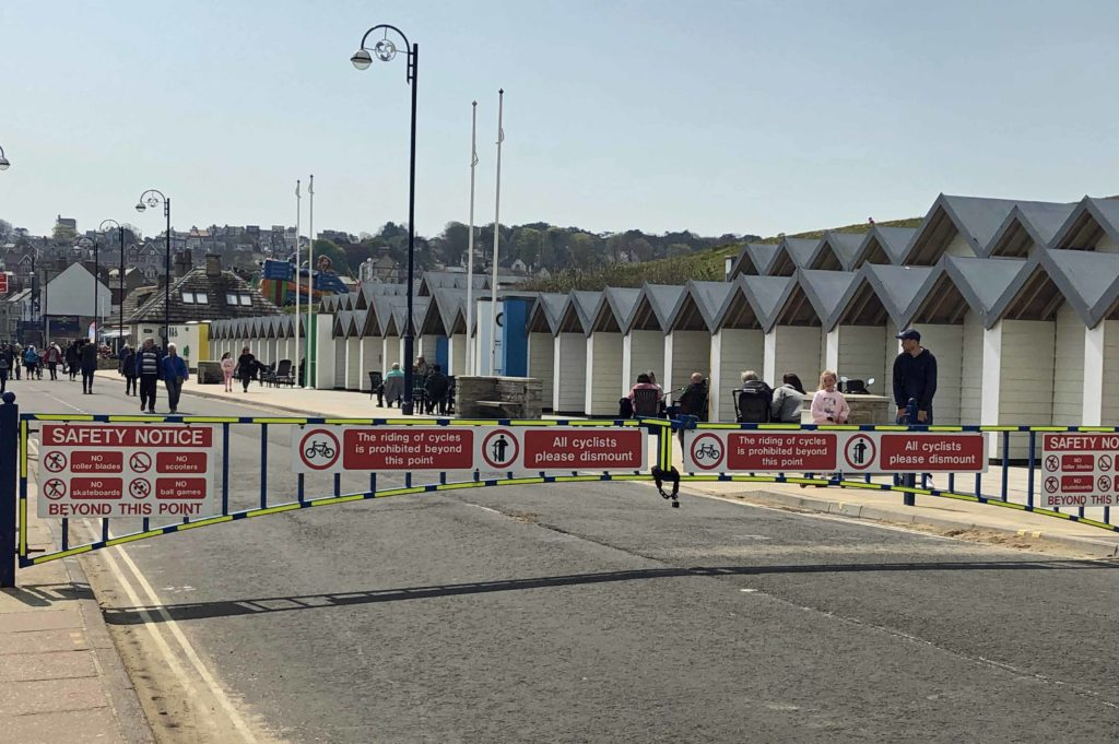 Barriers across the road