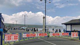 Barrier across Shore Road