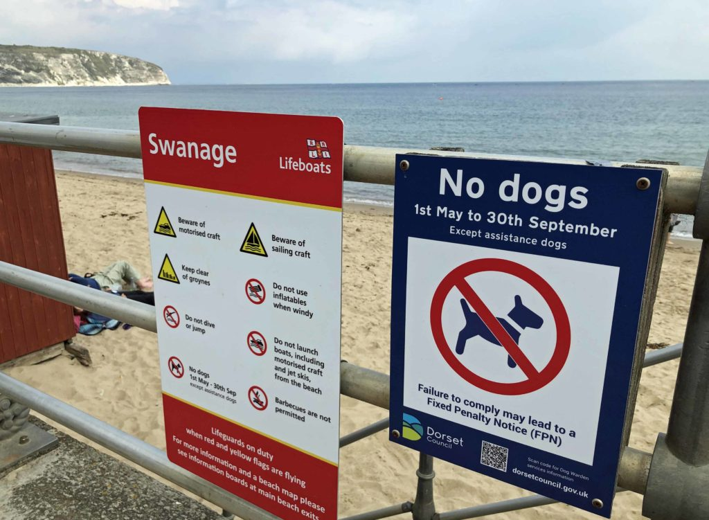 No dogs sign