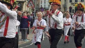 Swanage Folk Festival parade 2019