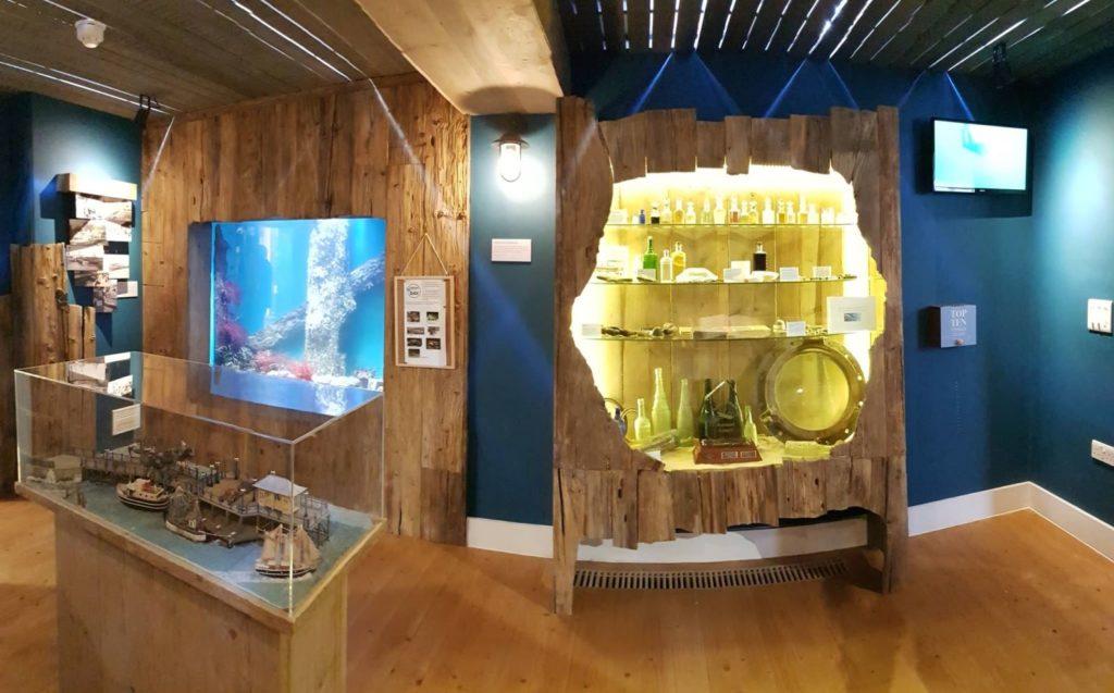 Inside Swanage Pier museum
