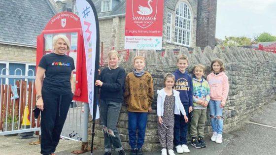 Swanage Primary School pupils
