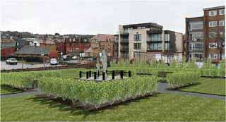 Architect plans of Trevor Chadwick statue
