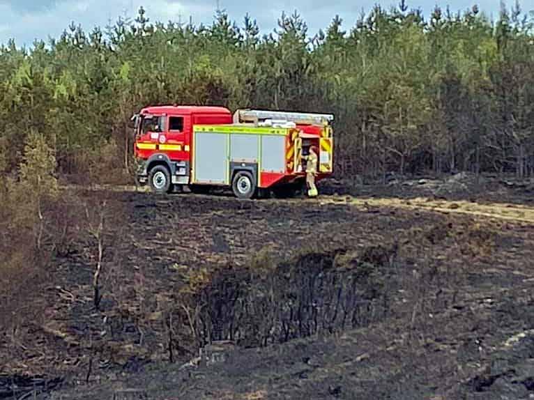 Verwood Heath fire