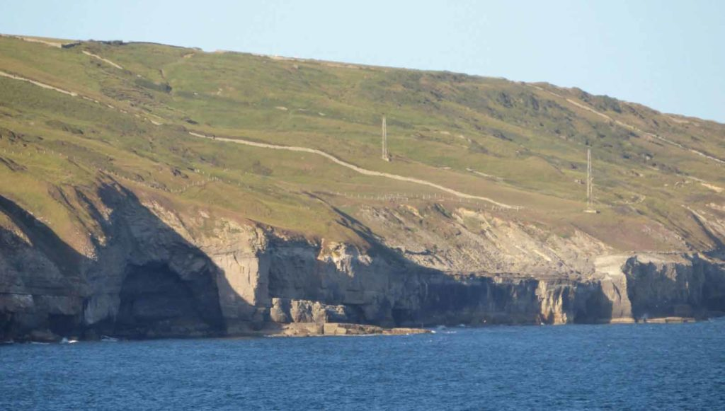 Western mile markers along the Purbeck Coast