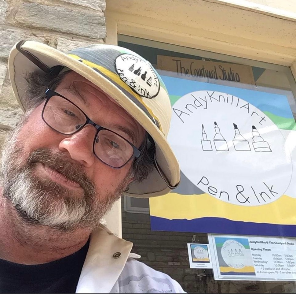Andy Knill outside his gallery