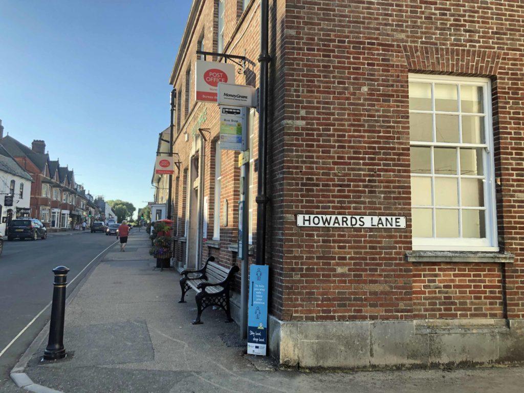 Howards Lane just off North Street in Wareham