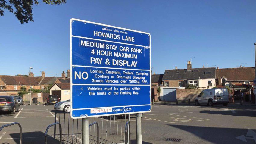 Howards lane car park in Wareham