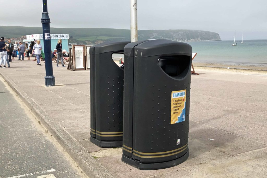 New bins on Swanage seafront