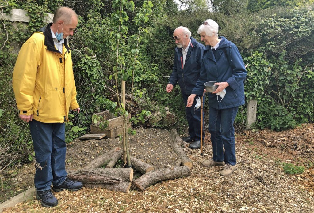 Scattering wildlife seeds at the Greengage Project