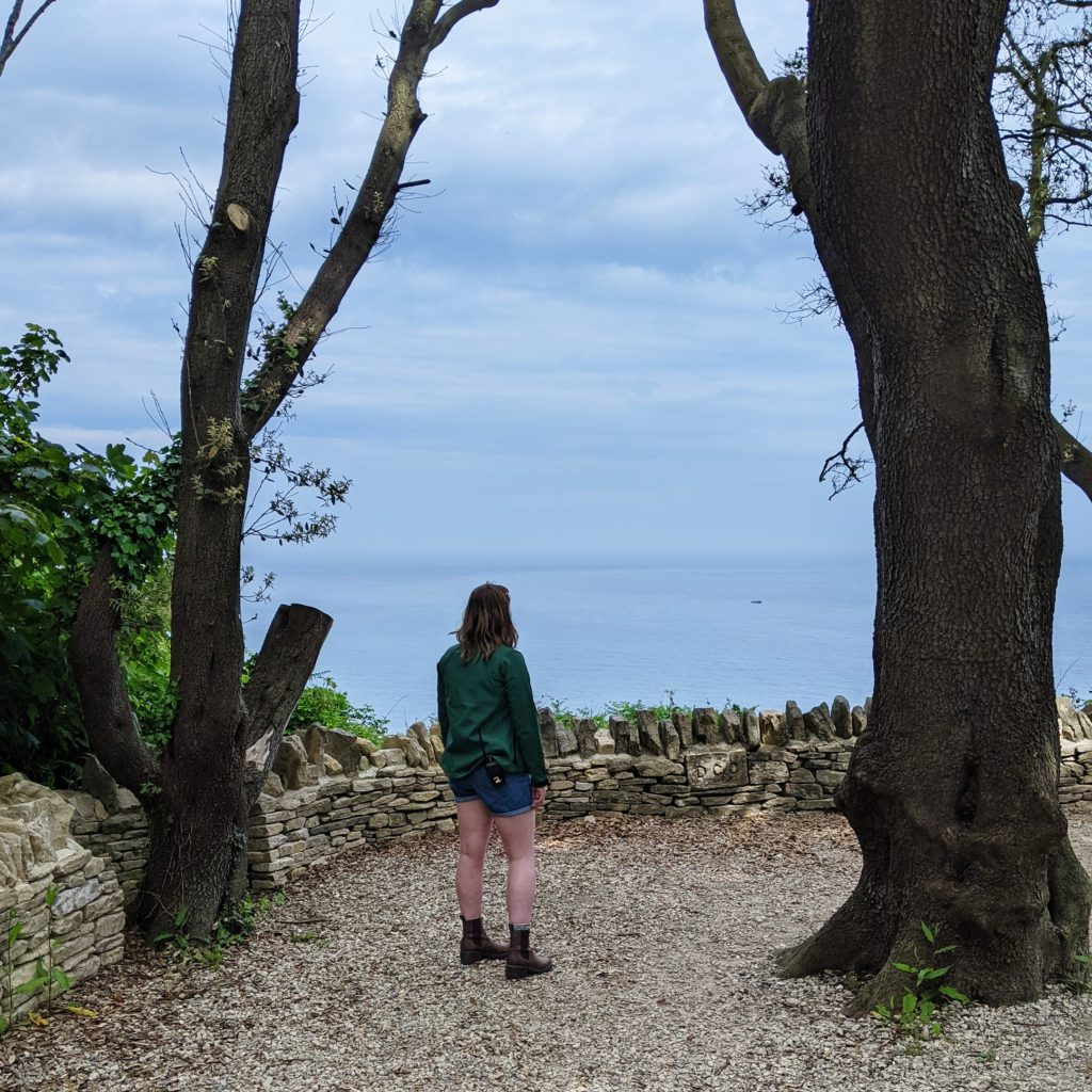 Looking out to se at Durlston