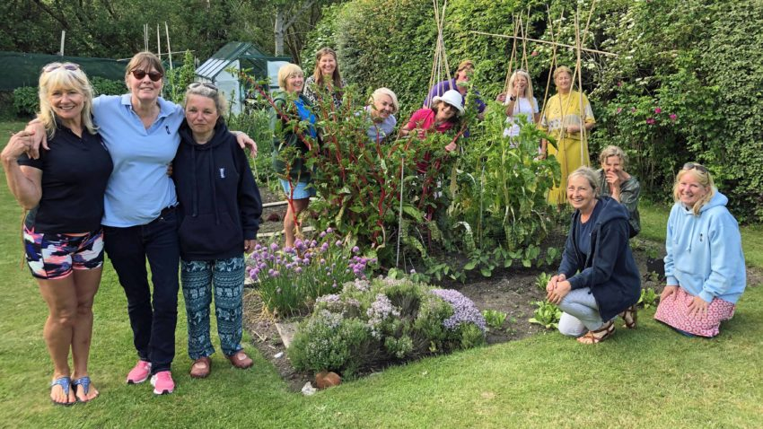 Wonderful Studland Ladies in a vegetable patch