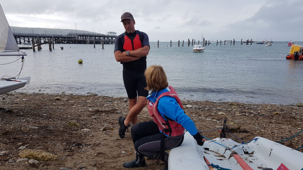 Instructing sailing