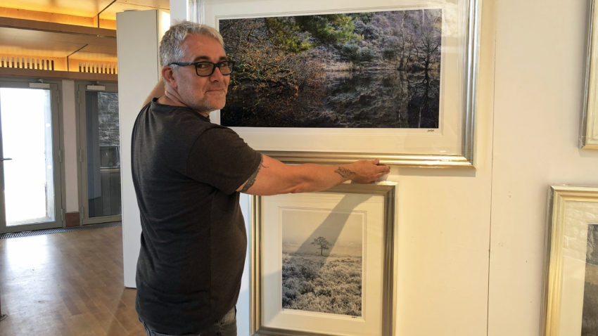 Andy Farrer at the Fine Foundation Gallery at Durlston (