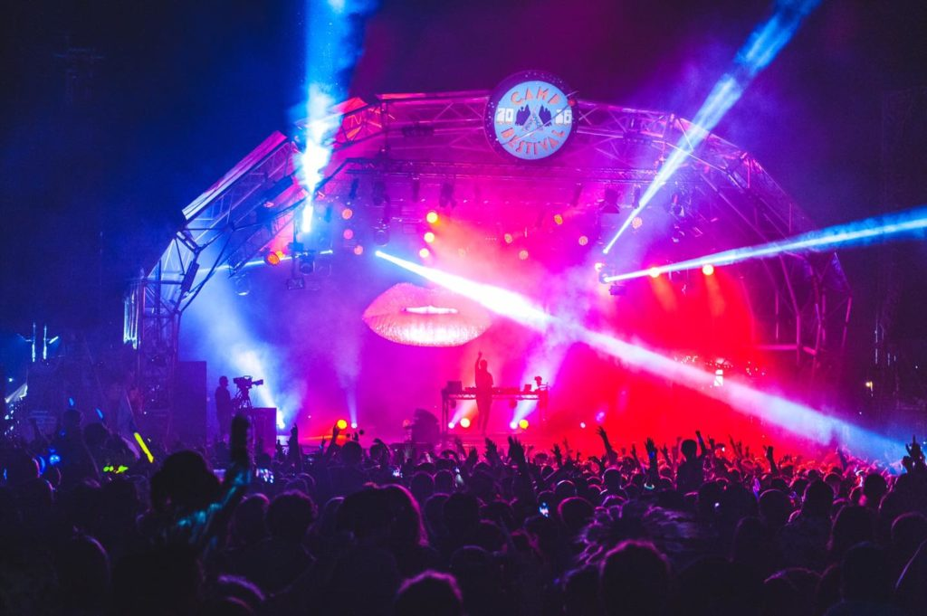 Camp Bestival stage at night
