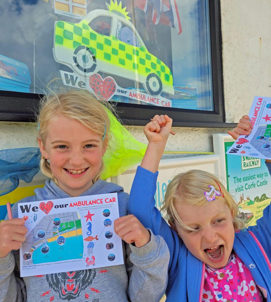 Children undertake the ambulance car summer trail