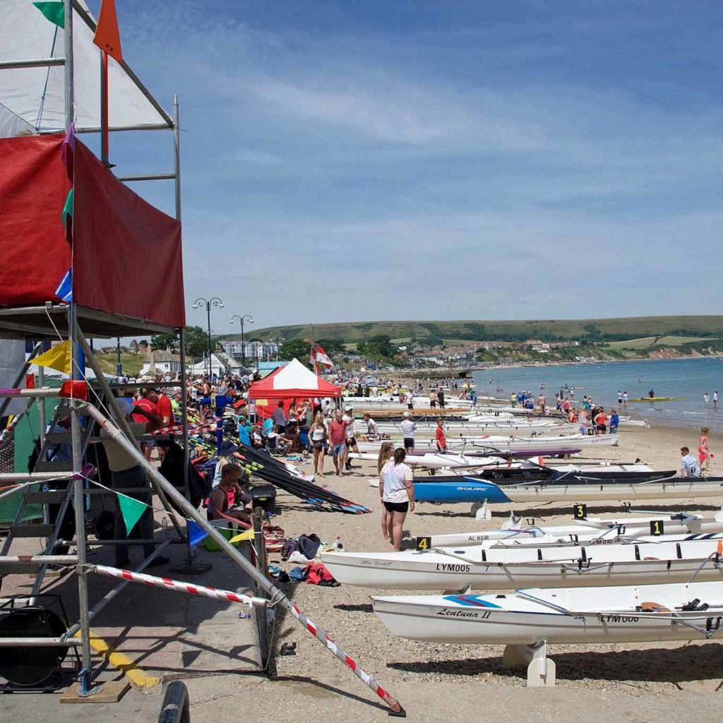 Coastal rowing regatta in Swanage 2018