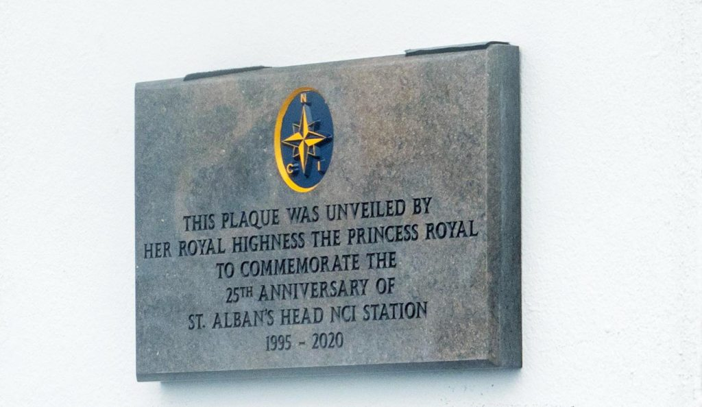 The plaques unveiled by the Princess Royal