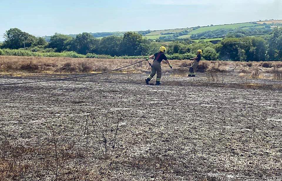 Fire in a farmer's field